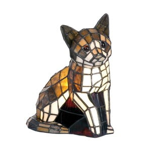 Lampa stołowa Tiffany Cat