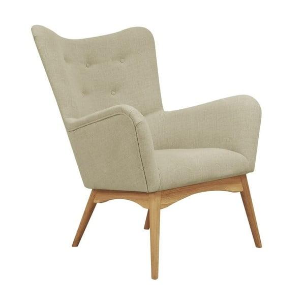 Beżowy fotel Helga Interiors Karl