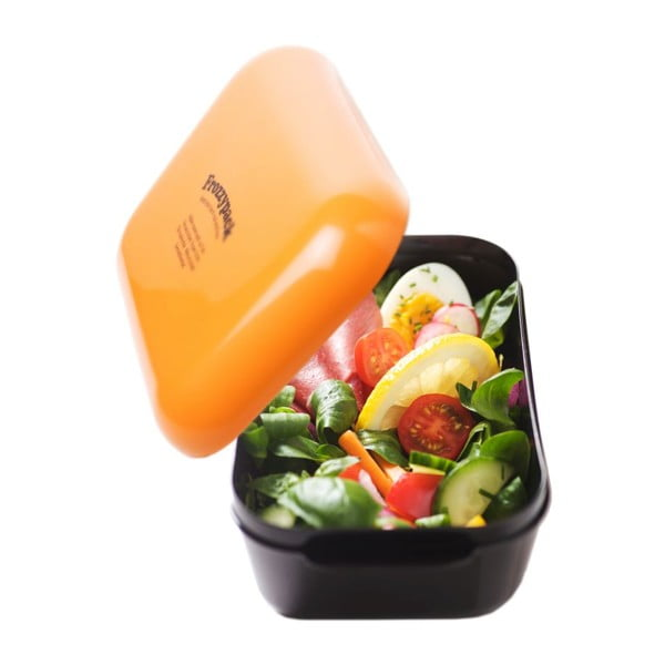 Pojemnik z wkładem chłodzącym Frozzypack Original, black/orange