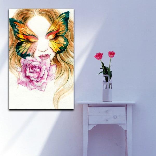 Obraz Kobieta-motyl, 70x100 cm