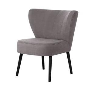 Szarobrązowy fotel z czarnymi nogami My Pop Design Hamilton