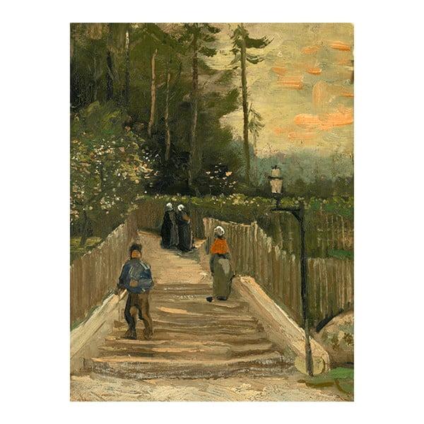 Obraz Vincenta van Gogha - Path in Montmartre, 60x45 cm