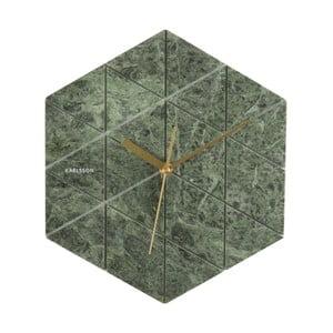 Zielony zegar Karlsson Marble Hexagon