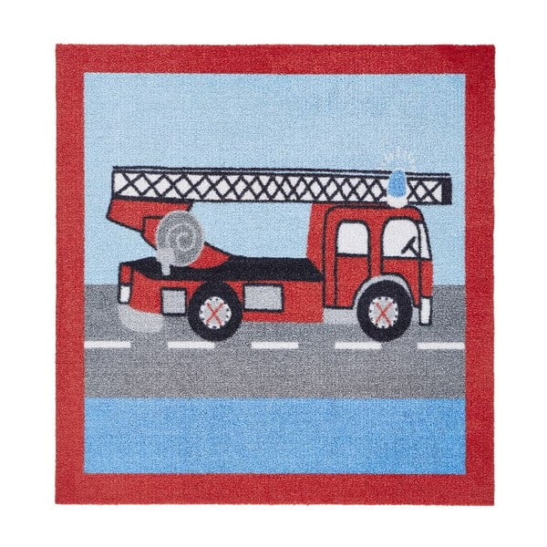 Dywan Hanse Home Kiddy Firemen, 100 x 100 cm