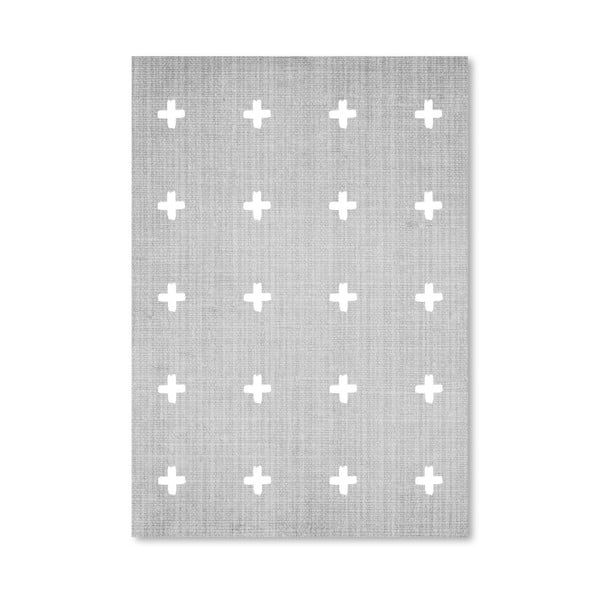 Plakat Crosses On Grey