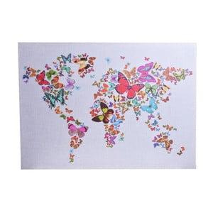 Płócienna mapa z motywem motyli Ewax Butterfly,50x70cm