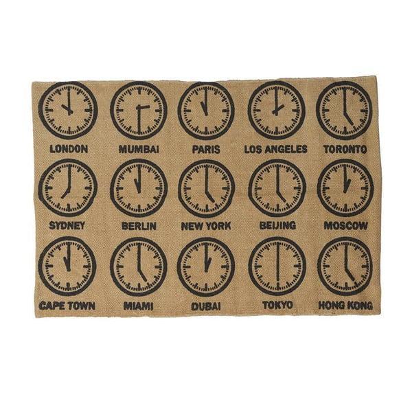 Dywan bawełniany Clock, 60x90 cm
