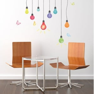Naklejka Ambiance Light Bulbs And Butterflies