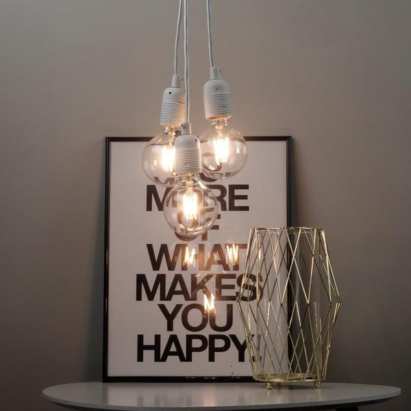 Biała lampa wisząca z 3 kablami Bulb Attack Uno Group