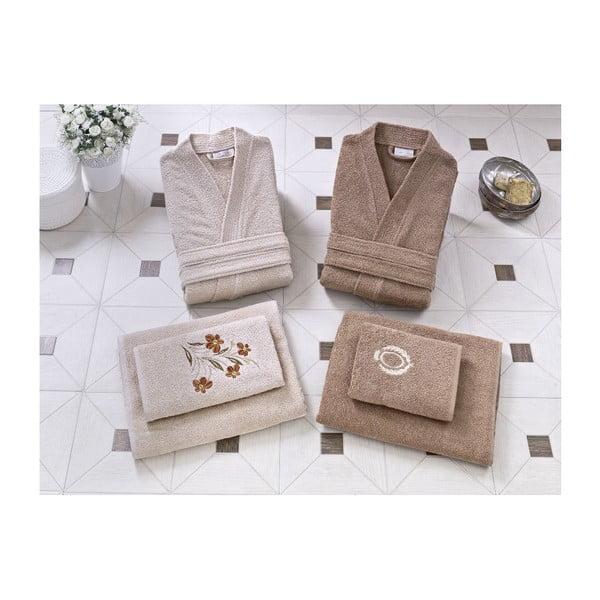 Rodzinny zestaw szlafroków i ręczników Tyra