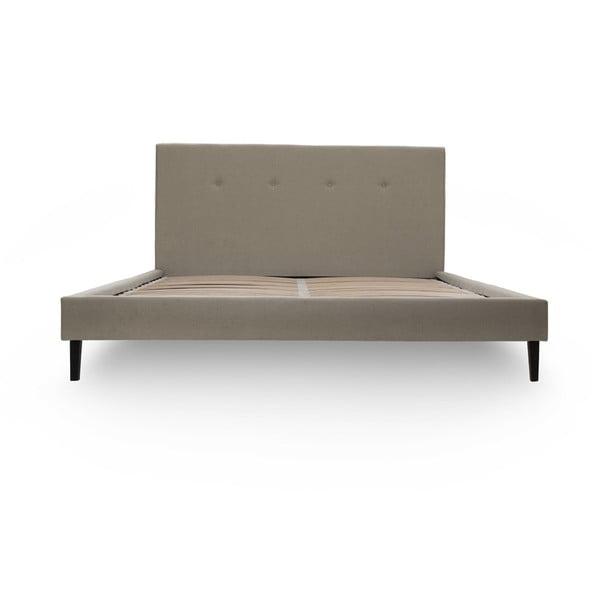 Jasnobrązowe łóżko z czarnymi nóżkami Vivonita Kent, 160x200 cm