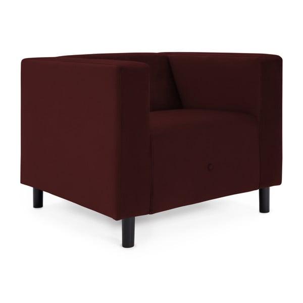 Burgundowy fotel Vivonita Milo