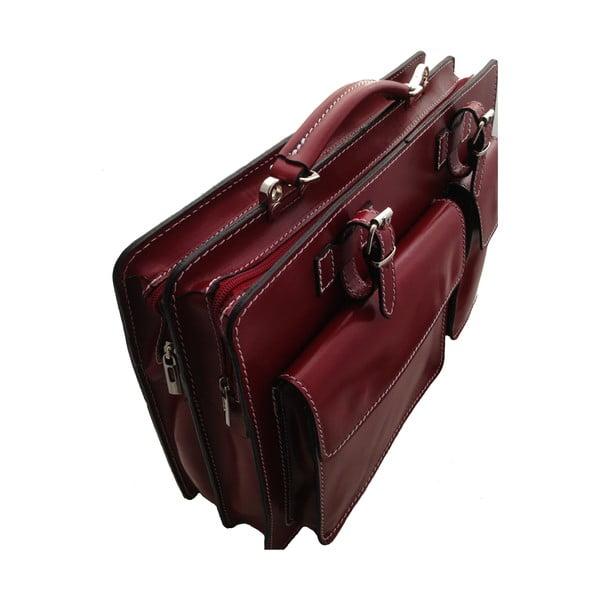 Skórzana torba Cortese, czerwona