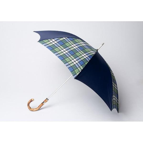 Parasol Tartan, granatowy