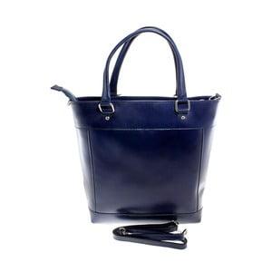 Niebieska torebka skórzana Crosty