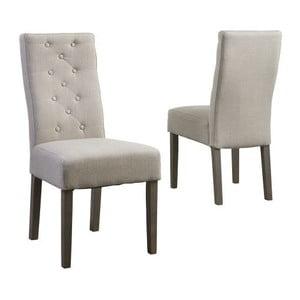 Beżowe krzesło z nogami z drewna dębowego Tango Smoked