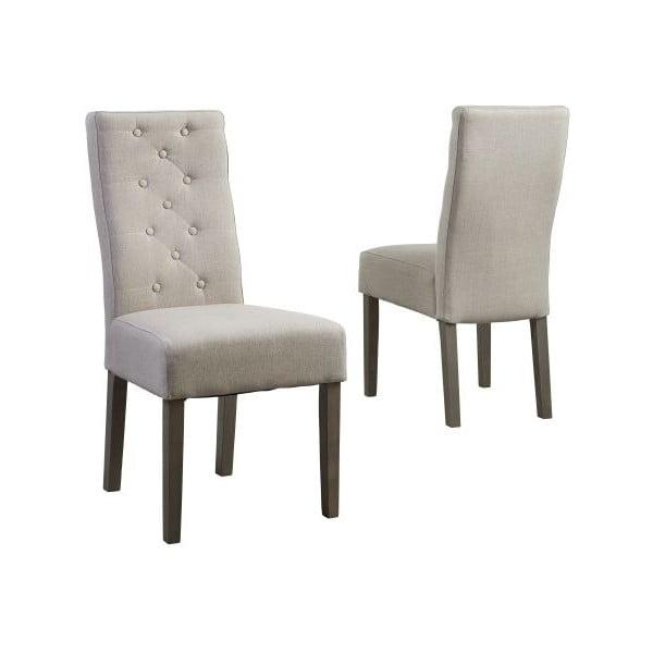 Beżowe krzesło z nogami z drewna dębowego Canett Tango