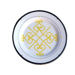 Zestaw 6 talerzy melaminowych Sunvibes Arabesque, ⌀ 20 cm