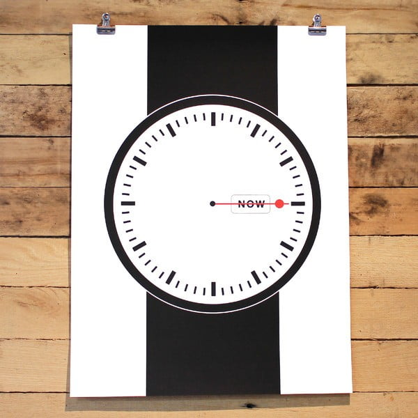 Plakat Time is now, 61x46 cm