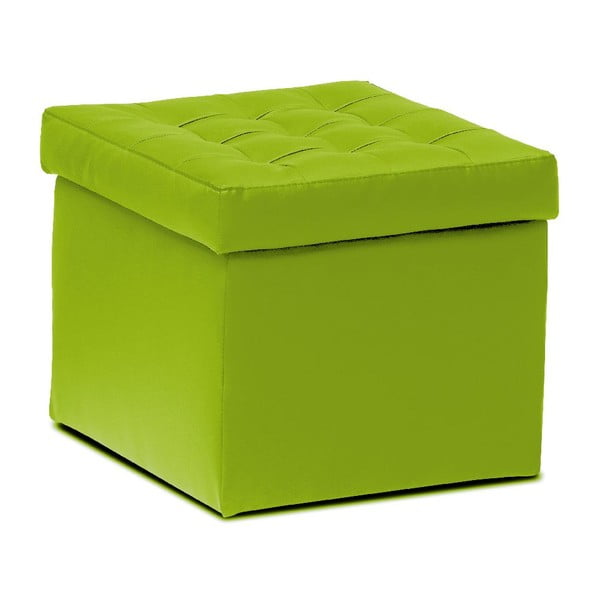 Puf ze schowkiem Silvia, zielony