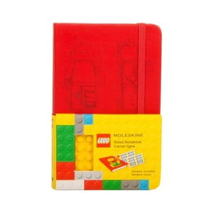 Notes w linie Moleskine Lego Red