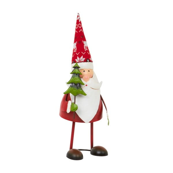 Dekoracja Archipelago Red Bouncing Santa With Tree, 37 cm