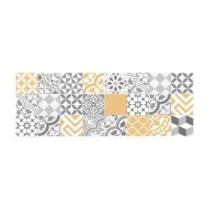 Dywan winylowy Floorart Collage Con Amarillo Liso, 50x140 cm
