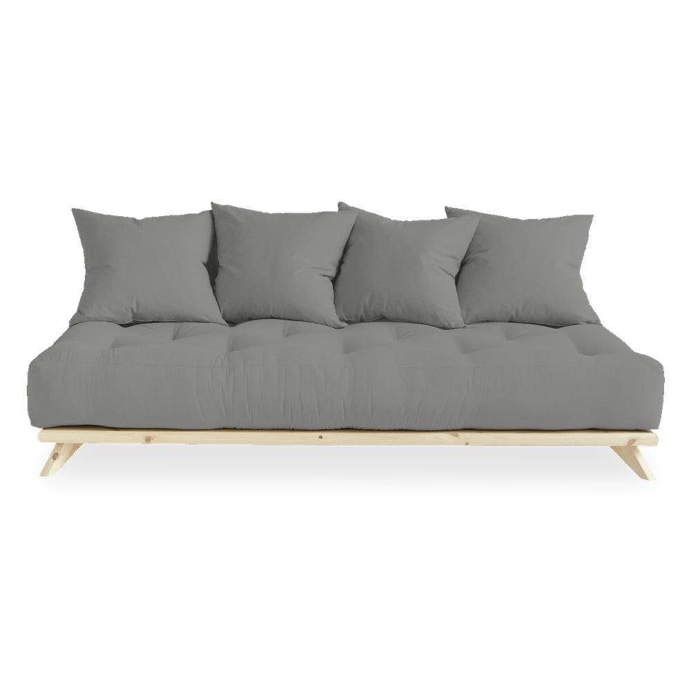 Sofa z szarym obiciem Karup Design Senza Natural/Grey