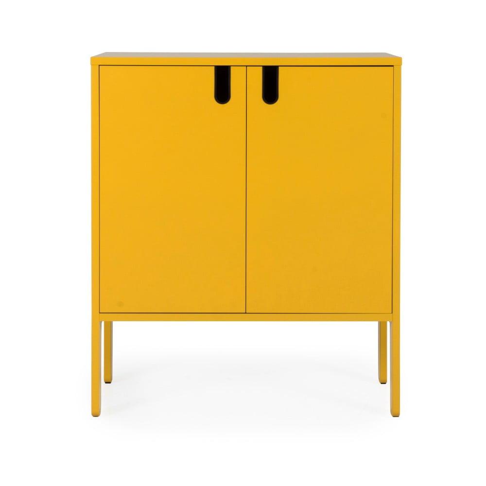 Żółta szafka Tenzo Uno, szer. 80 cm
