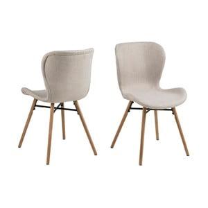Zestaw 2 beżowych krzeseł Actona Batilda