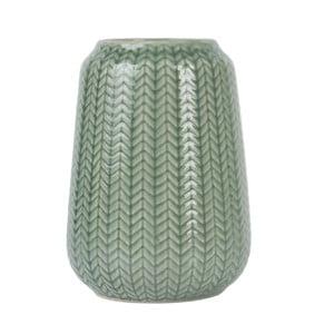 Średni zielony wazon Present Time Knitted