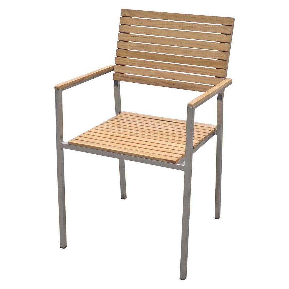 Ogrodowe krzesło sztaplowane z metalową konstrukcją ADDU Denver