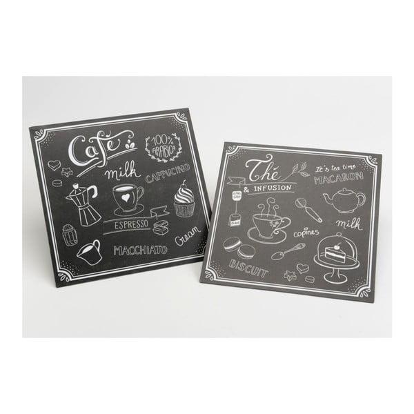 Zestaw 2 dekoracyjnych tablic Cafe&The