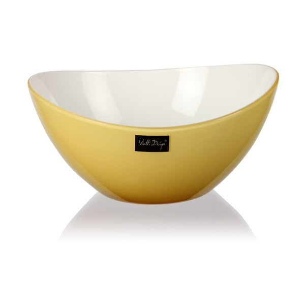 Jasnożółta miseczka Vialli Design, 16cm