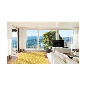 Żółty wytrzymały dywan odpowiedni na zewnątrz Trellis, 133x190 cm