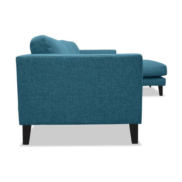 Turkusowa sofa z szezlongiem po prawej stronie Vivonita Monroe