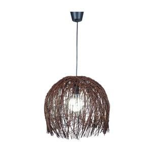 Lampa wisząca Struwel, brązowa 35x40 cm
