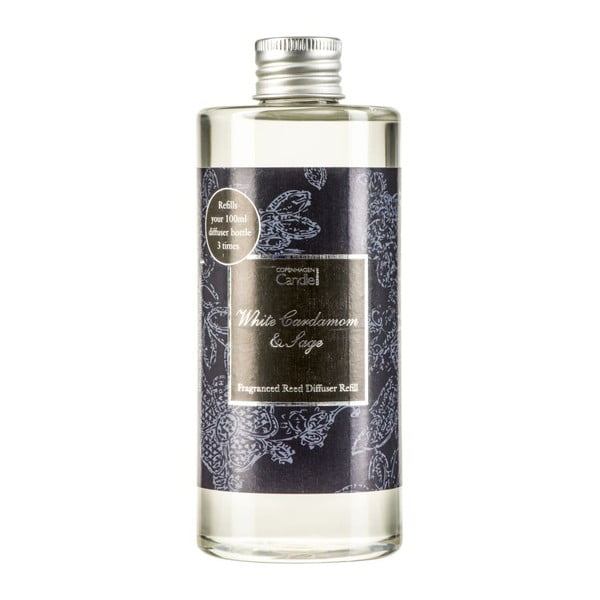 Zapas do dyfuzora Copenhagen Candles White Cardamon & Sage Reed, 300 ml
