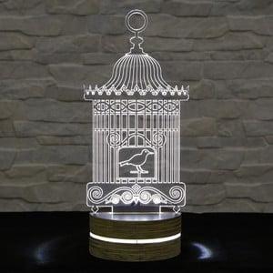 Lampa 3D stołowa Bird Cage