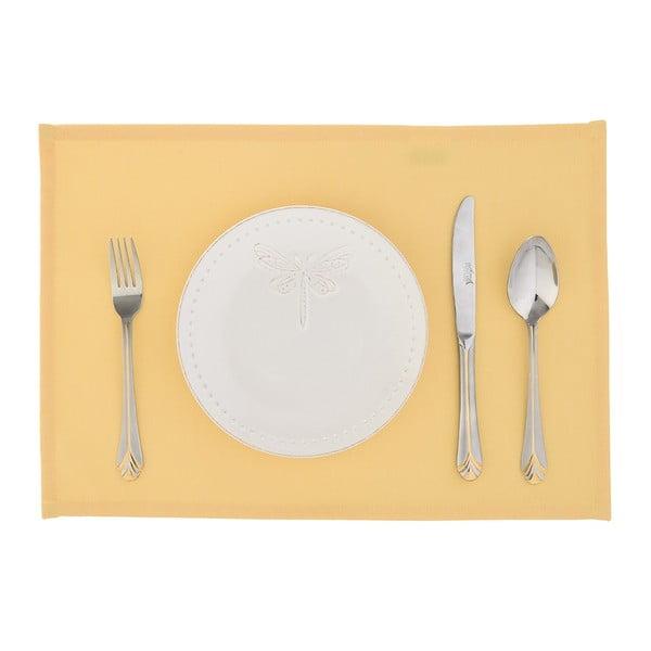 Komplet 2 mat stołowych Joy, żółte