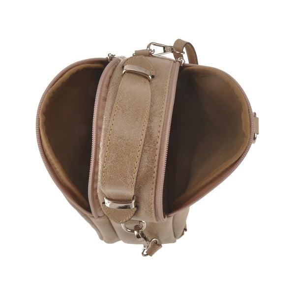 Bezowa torebka skórzana Men