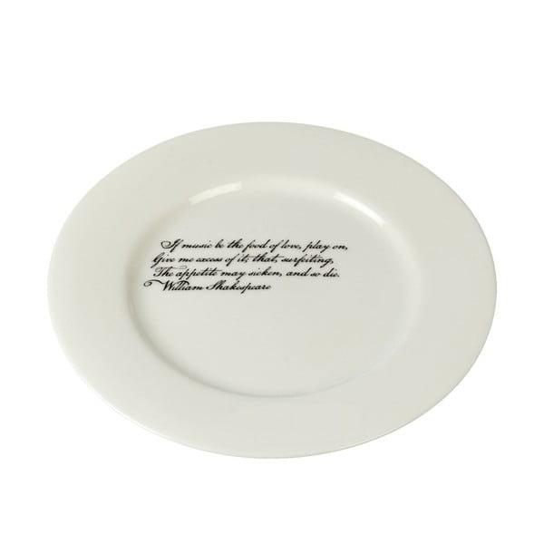 Porcelanowy talerz Shakespeare, 21 cm