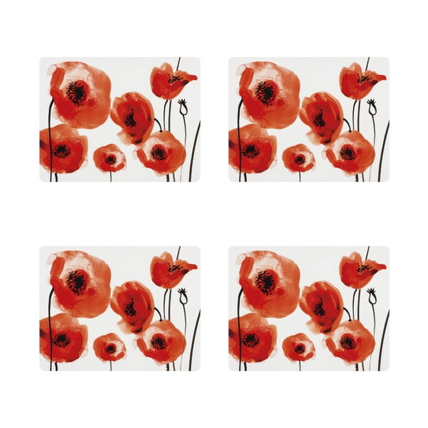 Zestaw 4 mat stołowych Ladelle Wild Poppies