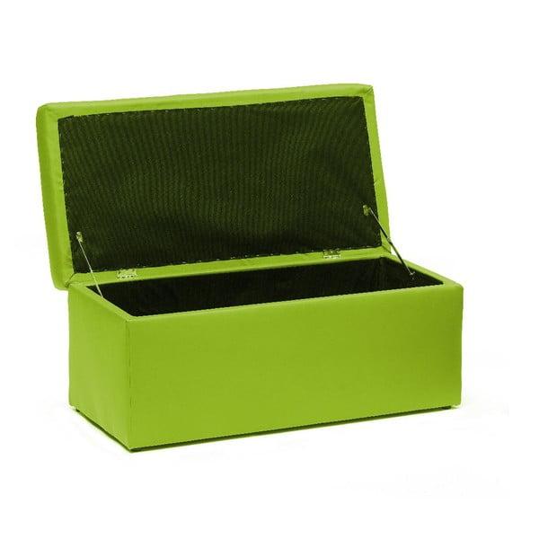Puf ze schowkiem Silvia 90 cm, zielony