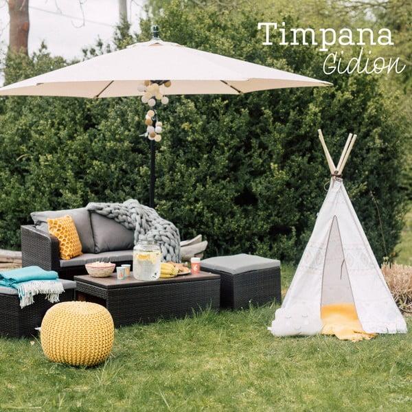 Zestaw mebli ogrodowych ze sztucznego rattanu Timpana Gidion