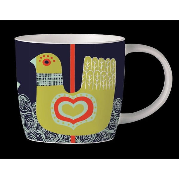 Kubek z angielskiej porcelany Folkland Carousel