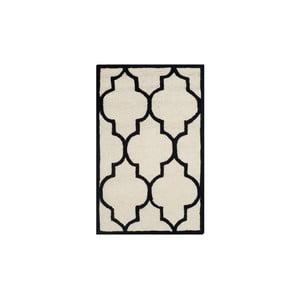 Dywan wełniany Everly 121x182 cm, biały/czarny