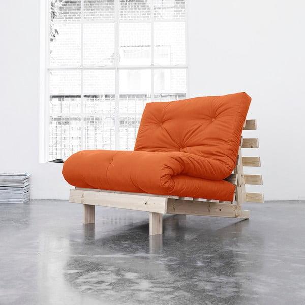 Fotel rozkładany Karup Roots Raw/Orange