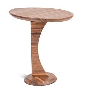 Stolik z litego drewna orzechowego Charlie Pommier Ellipse