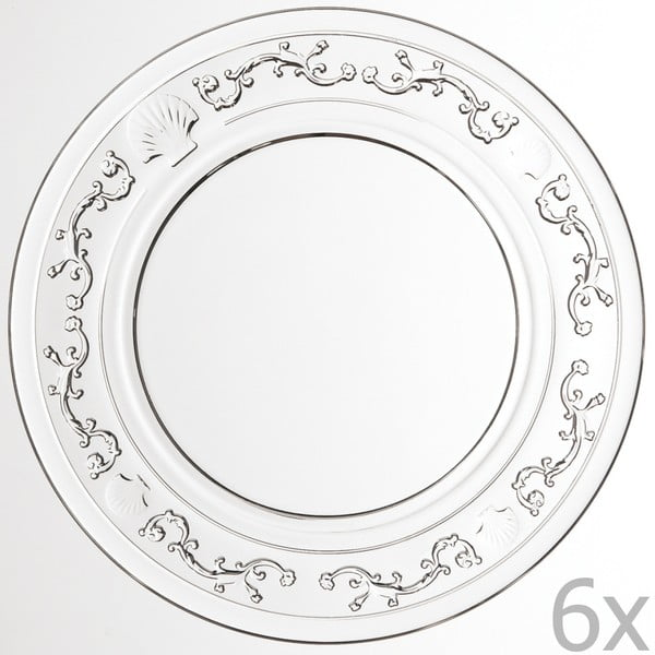 Zestaw 6 talerzy Versailles, 25 cm